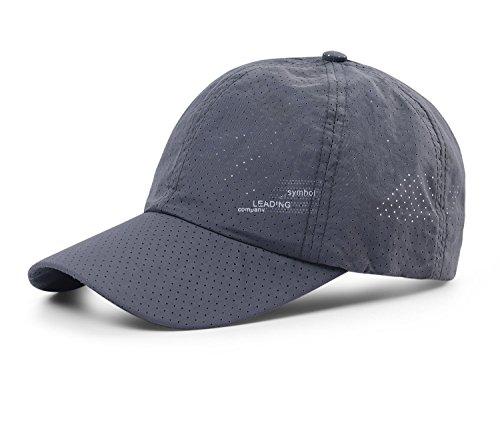 OUKEY メッシュキャップ, 通気性抜群 日除け UVカット 紫外線対策スポーツ帽子,男女兼用 速乾 軽薄 日よけ野球帽,登山 釣り ゴルフ 運転 アウトドアなどにメッシュ帽 (濃いグレー)