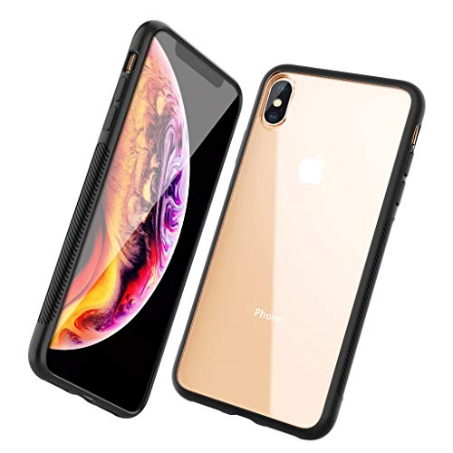 COVERY コンパチブル iphone XS Max ケース 耐衝撃 TPUとクリアPC素材 ブラック