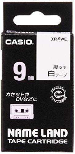 カシオ ネームランド ラベルライター テープ 9mm 白  XR-9WE