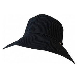 マーベラス クール ネオプラス チャーム付きつば広帽子 A-5 ブラック つば9cm 頭周り56~57cm 178-8901A5BK