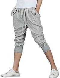 KEIMI(ケイミ) メンズ スポーツウェア ハーフパンツ 七分丈パンツ トレーニングウェア 夏服 ホームウェア