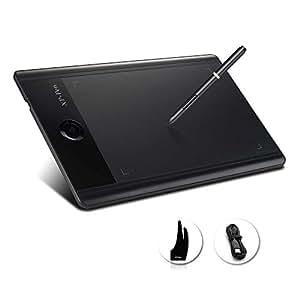 XP-Pen ペンタブレット 9*6インチ 8GB東芝メモリ 回転ホイール 2048レベル筆圧 (黒)