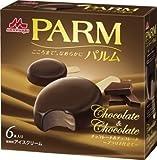 森永乳業 PARM チョコレート&チョコレート プラリネ仕立て55ml×6本×6箱