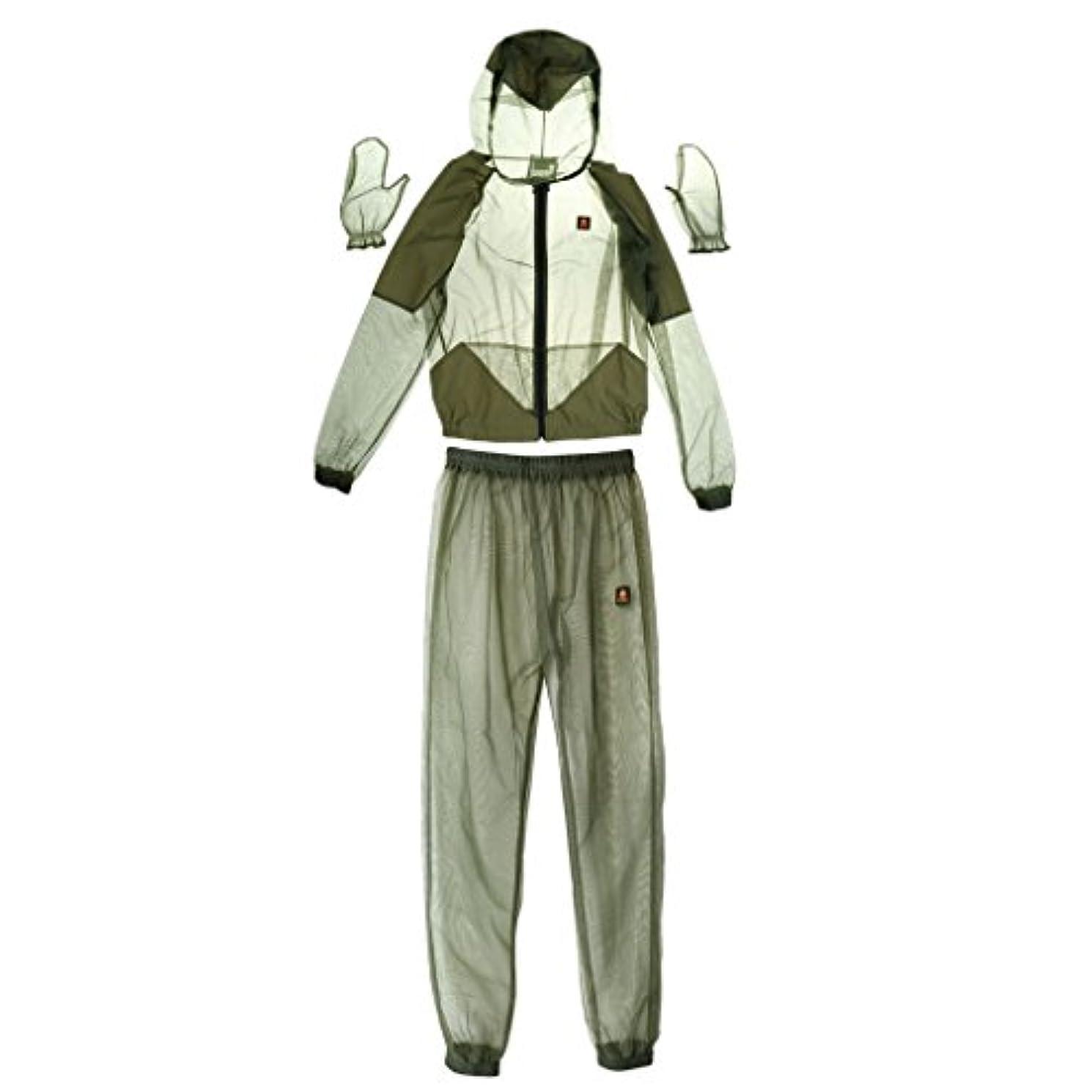 複製するハント判決Perfeclan 蜂 防護服 虫/蚊よけ 服装(ジャケット+パンツ+手袋) 蜂 対策 保護服 軽量 快適 全4サイズ