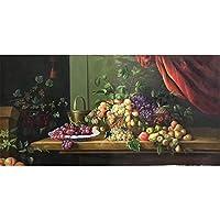 ホームデコレーションのために100%手描きクラシックフルーツの高品質なアートの絵画キャンバス上のウォールアートウォール絵画装飾画,(85X175cm)34X70inch