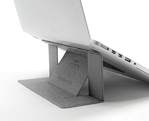 On The GO ノートパソコン スタンド PCスタンド 持ち運び便利 高さ調整可能 超軽量 極薄 姿勢改善 Macbook Pro/Macbook Air/Lenovo/ASUS/SONY/Acer/DELL (グレー)