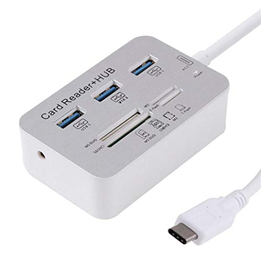 羽階下許さないMountain head 7インチ1 USBタイプ-CからUSB 3.0ハブケーブルMS DUO M2 SD TFカードリーダーHUB(ホワイト) Mountain head