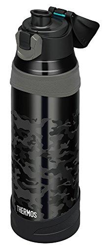 サーモス水筒真空断熱スポーツボトル【ワンタッチオープンタイプ】1.0LブラックカモフラージュFHQ-1001BK-C