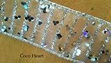 ~Coco Heart~ X'mas  ラウンドラメシルバーリボン 幅広 ワイヤー入り 1m単位 (リース・プリザ・ドライフラワー)