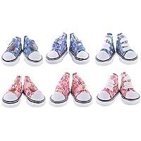 SONONIA 1/6 スケールBJD人形用  6ペア  レースアップ  キャンバスシューズ  手作り  靴