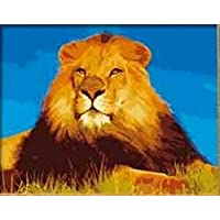 King of Beasts-DIY Painting Art Painting By Number Kit DIY Oil Paint 16x20 inch Canvas Art Frameless by DIY Painting [並行輸入品]