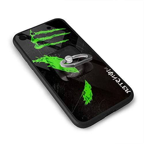モンスターエナジーのロゴ IPhone8 ケース IPhone7 ケース 背面ガラス+TPUバンパー 超薄超軽量 おしゃれ 指紋防止 一体型 人気 耐衝撃 すり傷防止 超耐久 スマホケース
