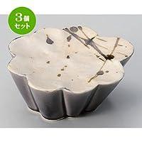 3個セット 雲流錆流高台鉢 [ 14.6 x 13.8 x 6cm 350g ] 【 小鉢 】 【 料亭 旅館 和食器 飲食店 業務用 】
