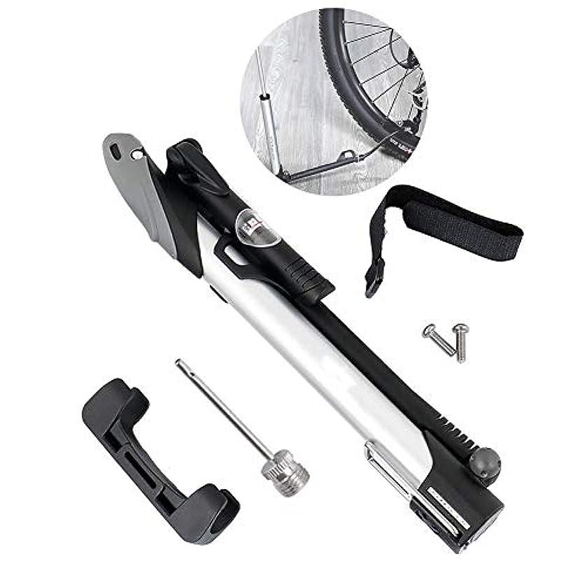 安心させる爆発物側溝自転車ポンプ、携帯用小型フィートの高圧ノズルのアルミ合金の屋外の乗馬装置