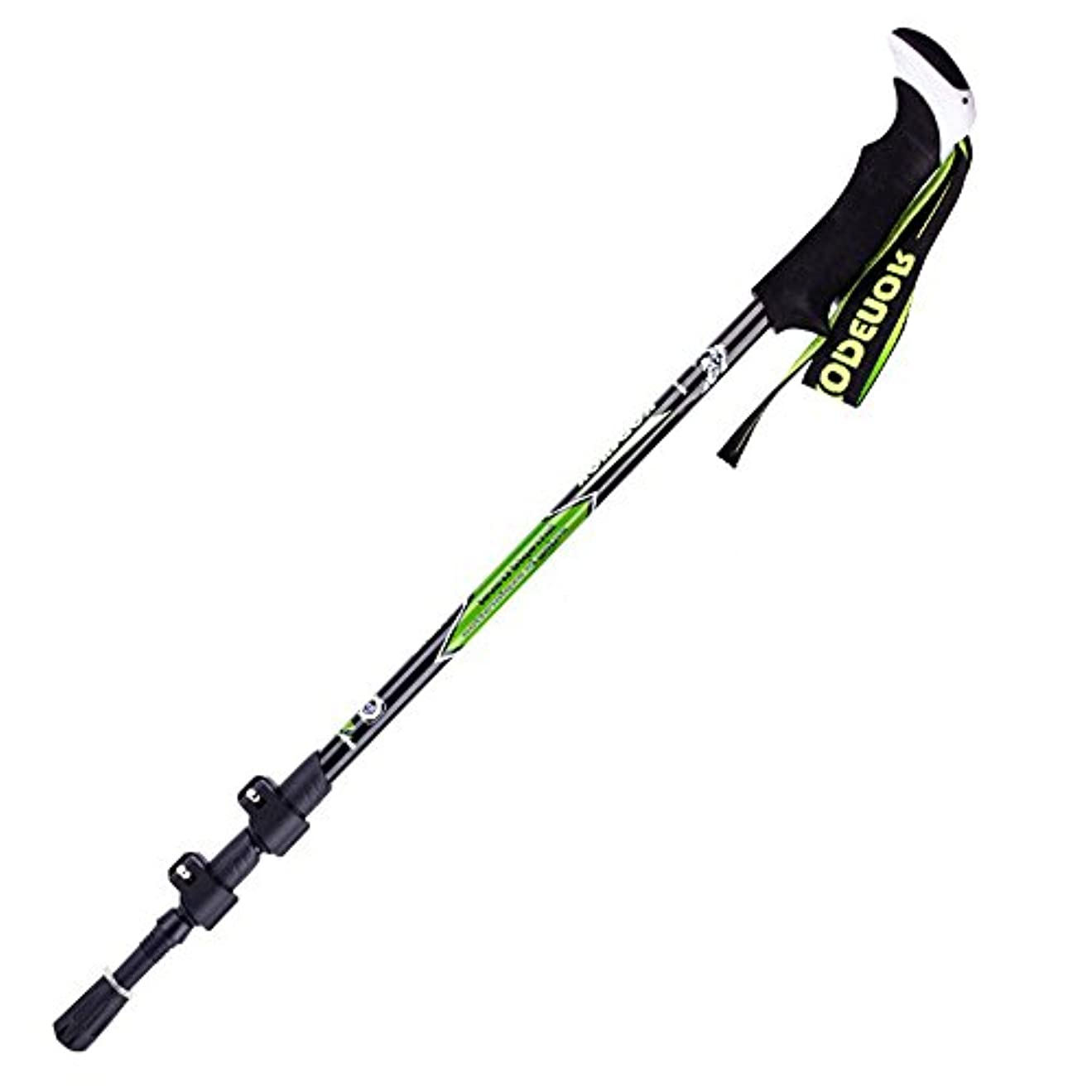 ホイットニー地球病者Alpenstocks Lock超軽量カーボンファイバーフォールディング3セクション伸縮自在のウォーキングスティック屋外スポーツマンのためのスティックウォーキング