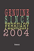 Genuine Since February 2004: Notebook