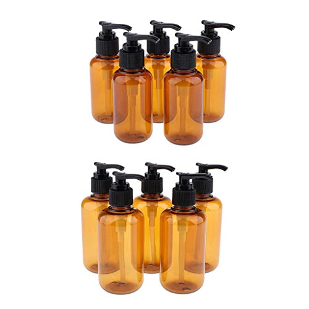 事最大化する確かにP Prettyia 10個 空のポンプボトル シャンプーボトル ローションコンテナ 詰替え容器 空のボトル