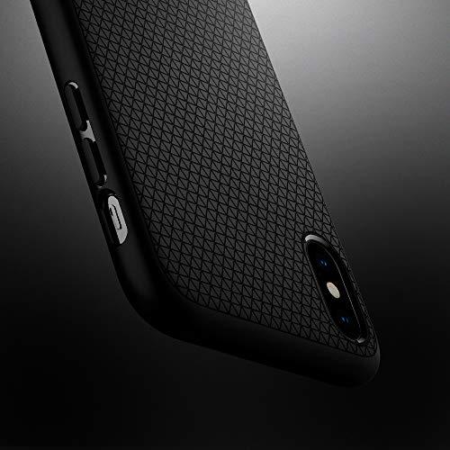 【Spigen】 スマホケース iPhone XS Max ケース 6.5インチ 対応 TPU 米軍MIL規格取得 耐衝撃 リキッド・エアー 065CS25126 (マット・ブラック)