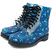 MEIGUIshop Rain Boots - Non-Slip wear-Resistant Mountaineering Boots Round Head in The Rubber Shoes