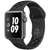 ナイキ スポーツ Apple Watch Nike+ スペースグレイアルミニウムケースとアンスラサイト/ブラックNikeスポーツバンド 本体 (38mm)