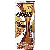 (2ケース)明治 ザバス for Woman カフェラテ風味 SAVAS MILK PROTEIN 脂肪0+SOY 200ml×24本入×2ケース 合計48本 ザバス ミルクプロテイン