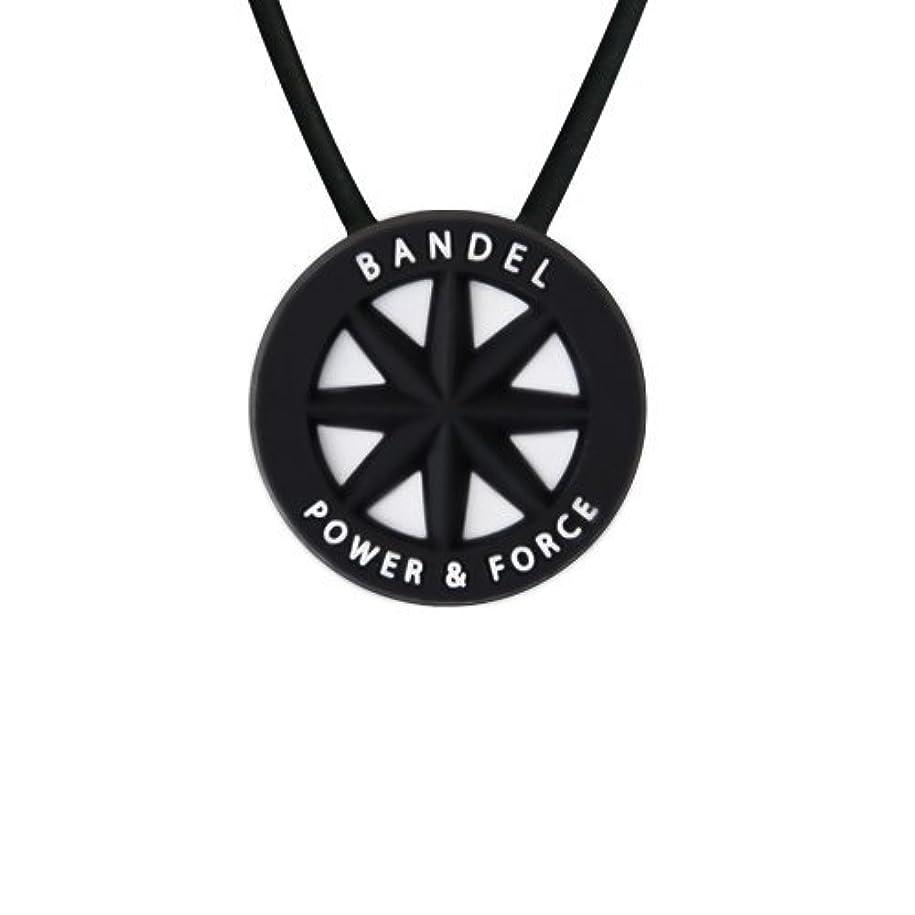 暴力的な編集するカバーバンデル(BANDEL) スタンダード シリコン ネックレス (ブラック×ホワイト)40cm