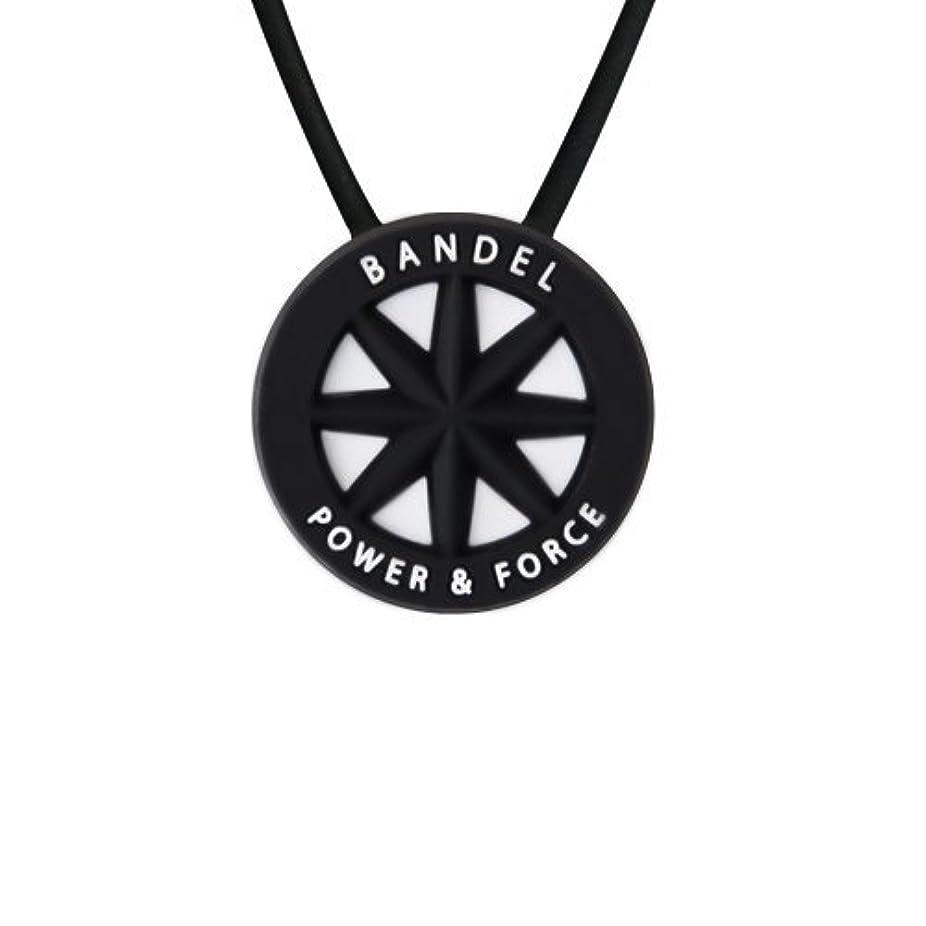 損なう崇拝するバルクバンデル(BANDEL) スタンダード シリコン ネックレス (ブラック×ホワイト)45cm