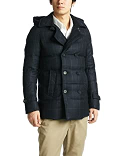 Ships Wool Down Peacoat 114-55-0030: Navy