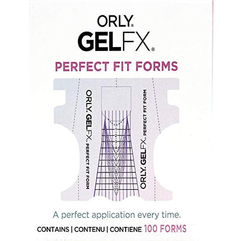 記者本物お酢Orly Gel FX - Perfect Fit Forms - 100 count