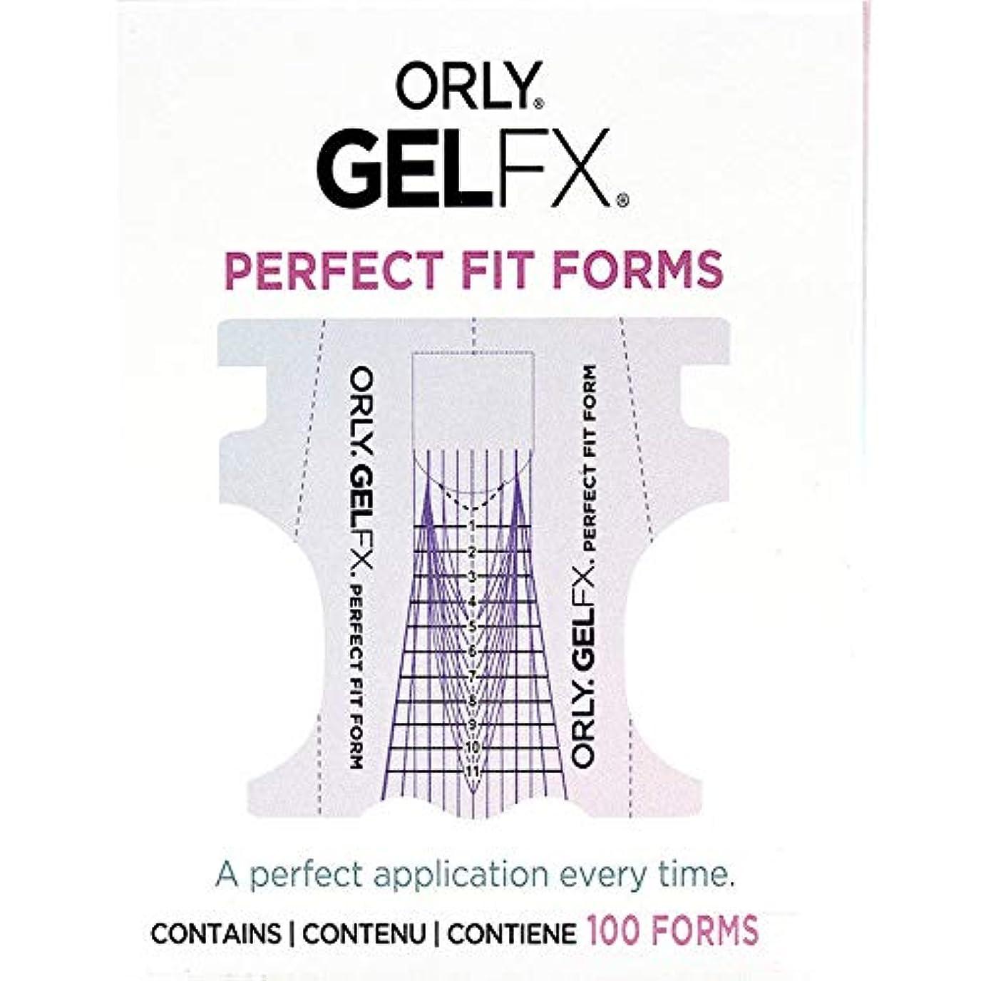キャメル理想的砦Orly Gel FX - Perfect Fit Forms - 100 count