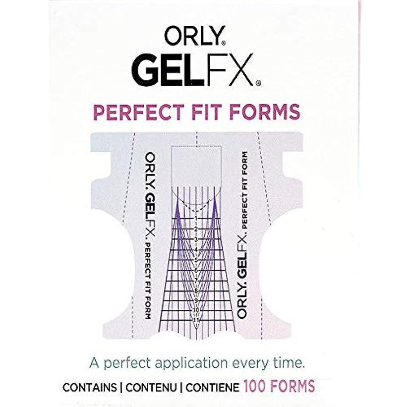 で音声マージンOrly Gel FX - Perfect Fit Forms - 100 count