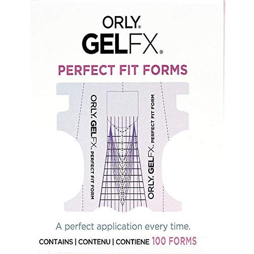 辛い出撃者費やすOrly Gel FX - Perfect Fit Forms - 100 count
