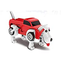 (Red) - Dog Transformer Toys, Sacow Novelty Robot Dog Transform Car Toys Clockwork Deformable Vehicles Wind-up Toys for Kids Baby (Red)