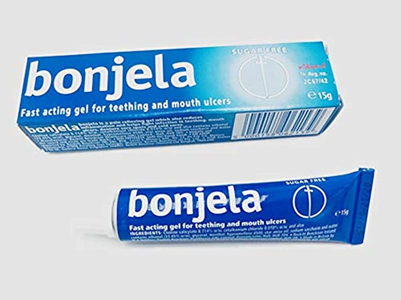 マオリお風呂を持っている広告主Bonjela Tooth and Mouth Ulcer 歯と口の潰瘍 15g.