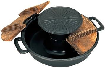 五進 アルミ(フッ素加工)焼きしゃぶ鍋 30cm(J-53)