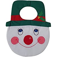 Quilted Christmas Baby Bib ~ Snowman by Kubla Crafts
