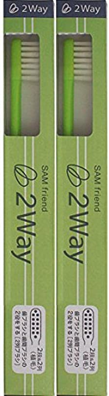スピンペイン添加剤サンデンタル サム 2Way歯ブラシ【2本セット】