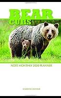 Bear Cubs Note Monthly 2020 Planner 12 Month Calendar