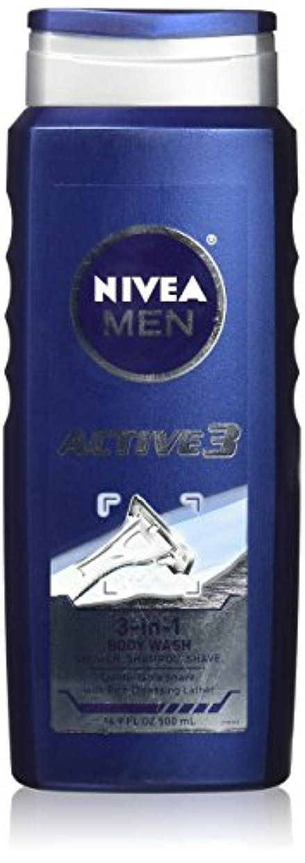 不公平祝福ファイナンスNIVEA MENS BODY WASH ACTIVE 3 16.9 OZ by Nivea Men
