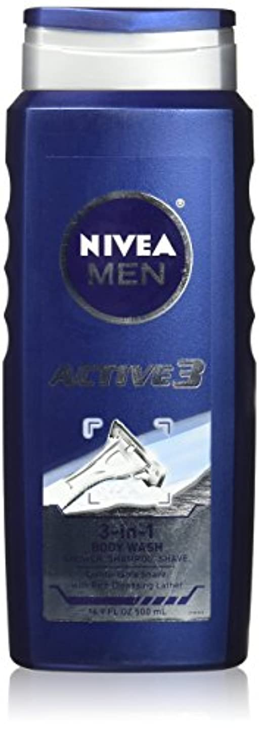 粘り強い傷つきやすい橋NIVEA MENS BODY WASH ACTIVE 3 16.9 OZ by Nivea Men