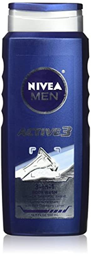 農民それにもかかわらずゆでるNIVEA MENS BODY WASH ACTIVE 3 16.9 OZ by Nivea Men