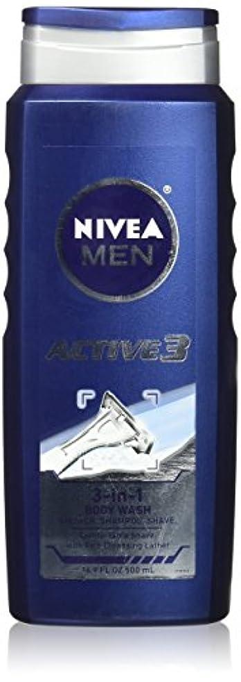 力学反逆者税金NIVEA MENS BODY WASH ACTIVE 3 16.9 OZ by Nivea Men