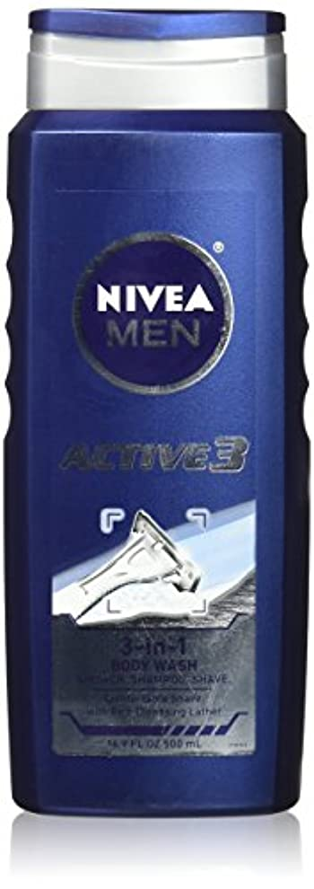 フラグラントアクティブエンティティNIVEA MENS BODY WASH ACTIVE 3 16.9 OZ by Nivea Men