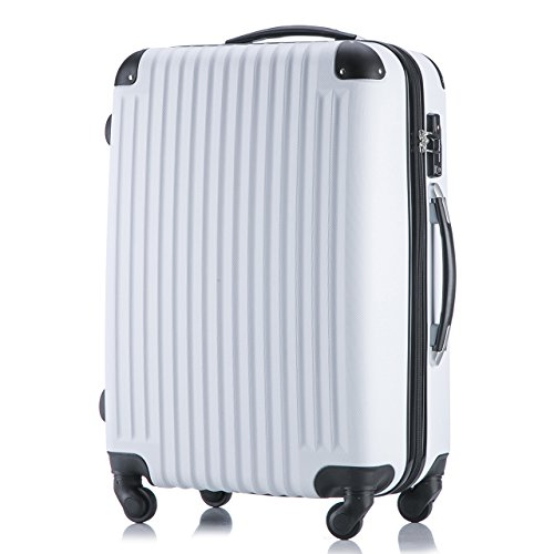 (ファーストドア) 1STDOOR 超軽量スーツケース TSAロック付 (Sサイズ(34L), ホワイト)