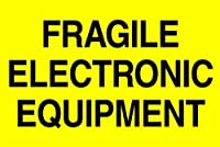 Tape Logic DL1193 Shipping and Handling Label Legend Fragile - Electronic Equipment 3 Length x 2 Width Fluorescent Yellow (Roll of 500) [並行輸入品]