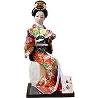 和風の美しい着物芸者/舞妓人形/ギフト/ジュエリー-A39