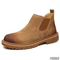 ブーツ メンズ チェルシーブーツ スエード サイドゴア ショートブーツ 焦がし加工 アウトドア 靴 デザート シューズ 履きやすい 防滑 ブラウン ブラック グレー