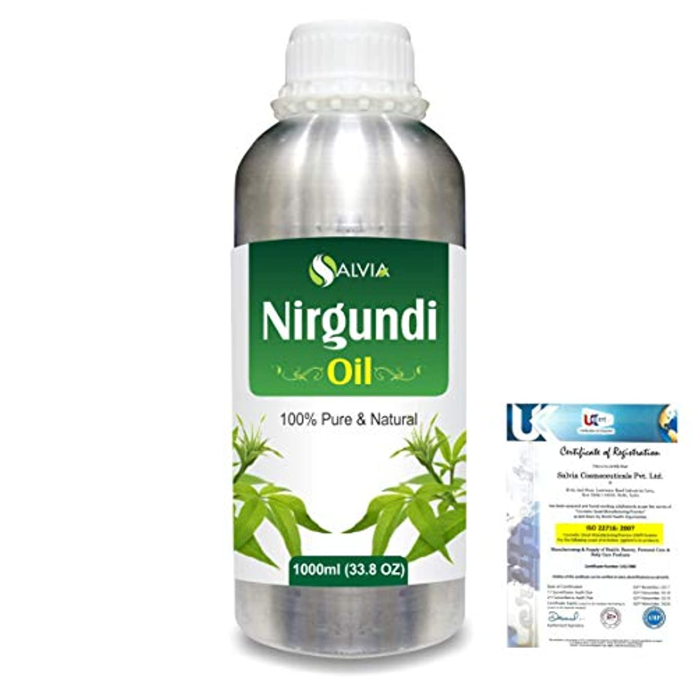 泣く測定追加するNirgundi (Vitex negundo) 100% Natural Pure Essential Oil 1000ml/33.8fl.oz.