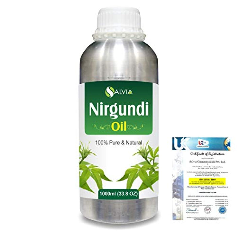 前件研磨剤阻害するNirgundi (Vitex negundo) 100% Natural Pure Essential Oil 1000ml/33.8fl.oz.