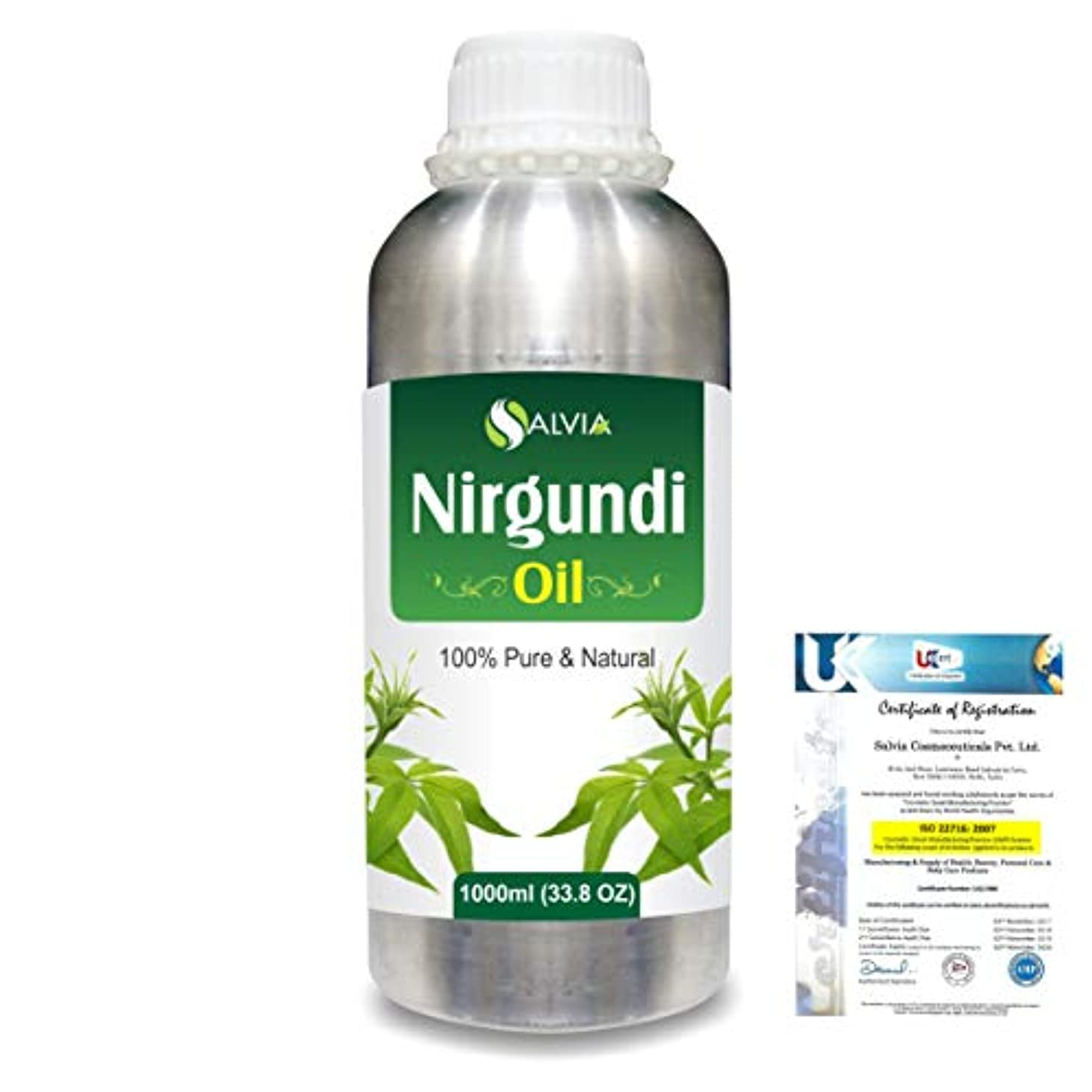抵抗時系列表向きNirgundi (Vitex negundo) 100% Natural Pure Essential Oil 1000ml/33.8fl.oz.